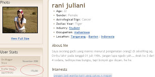 Rani Juliani blog profile views