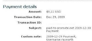 Pembayaran dari Paid To Promote