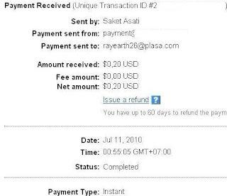Bukti Pembayaran PTC Cashtream