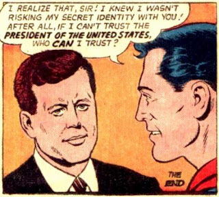 Superman meets John F. Kennedy