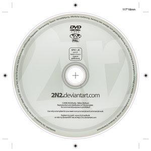 DVD Label Template PSD