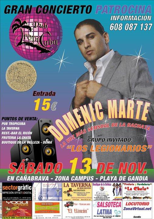 The music corner domenic marte deseos de amarte europeon tour november 2010 - Discoteca ozona madrid ...