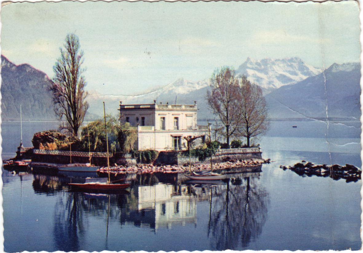 Postcards From My Attic Lac Leman Ile De Salagnon Pr 232 S