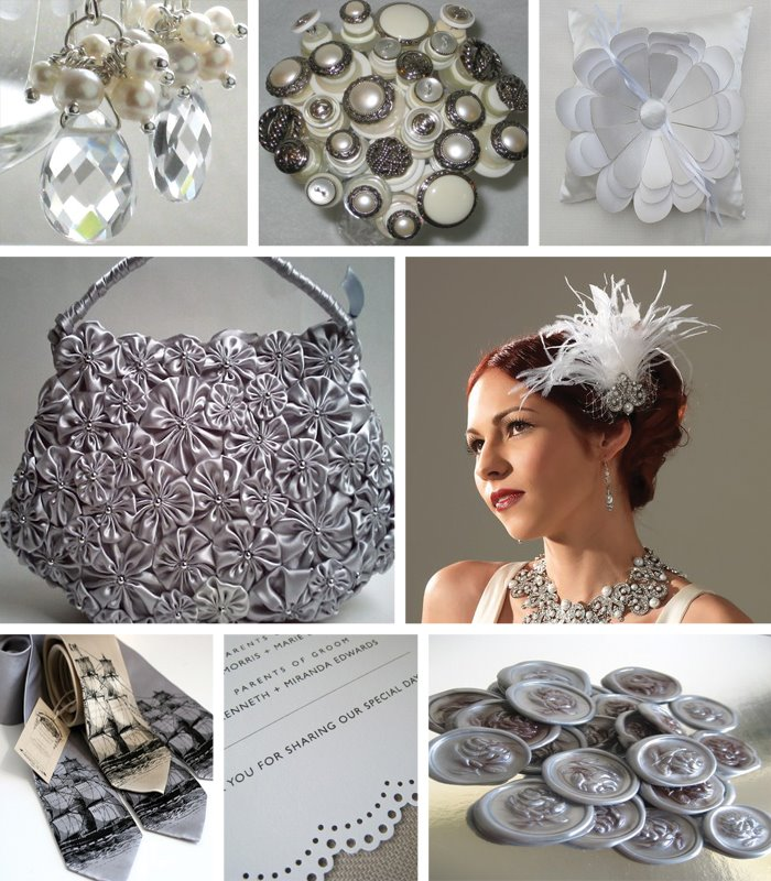 Inventing Weddings Etsy Handmade Wedding Inspiration A Heart of Silver