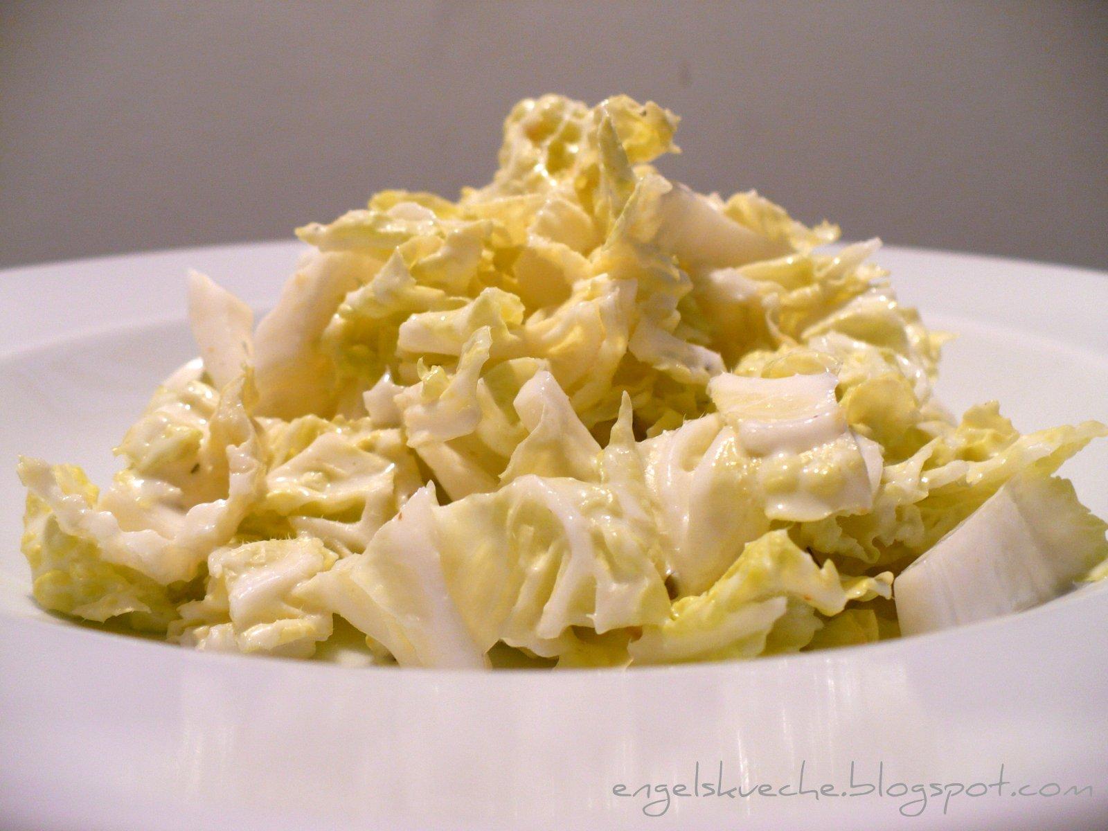 Essen aus Engelchens Küche: Chinakohl mit Joghurt-Dressing