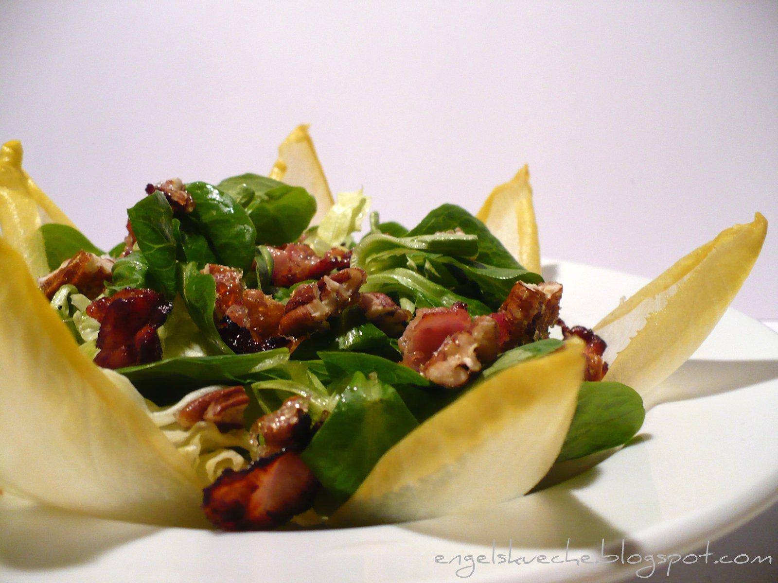 Essen aus Engelchens Küche: Salat mit Chicoree, Speck und ...