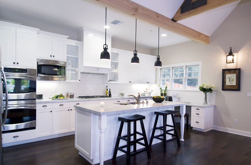 High ceilings and a great room in a magnificent cape cod Cape cod style kitchen design