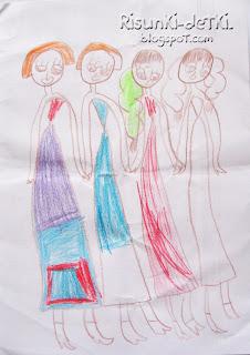 Детские Рисунки девочки феи карандаши