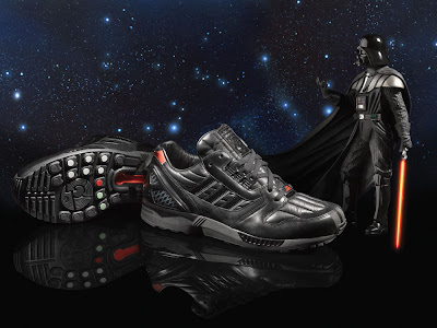 Check out the Darth Vader Tie Fighter and Stormtrooper shoes below