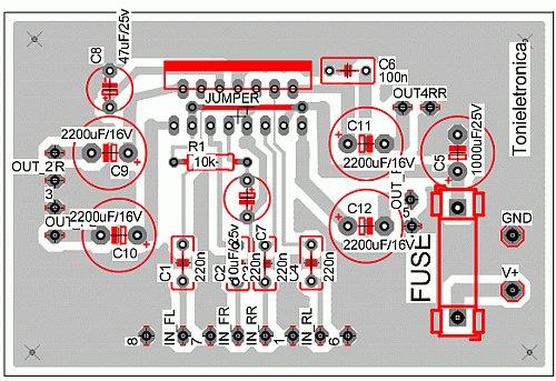 Amplificador Tda7294 Bridge Montagem Circuito De Picture.