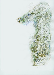 "Gina Mitsdarfer - Celtic Horse, 8.50"" x 11"" collagraph, acrylic on paper"