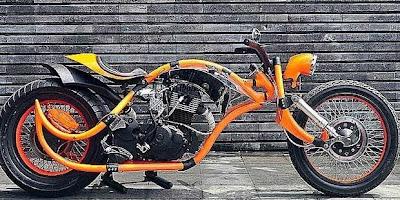 Modifikasi Honda Mega Pro Chopper 2010