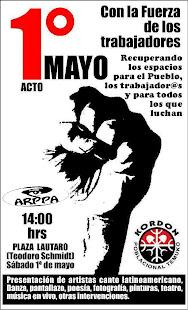 Acto Primero de Mayo en Temuko