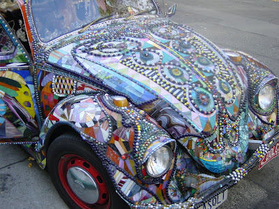 Glass Quilt Mosaic VW Art Car