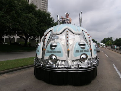 Lady of Trasportation at The Houston Art Car Parade 2010