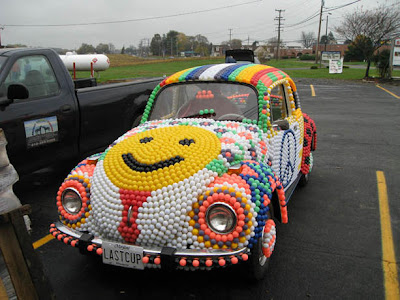 8,000 Ping Pong Ball VW Art Car by Katherine Smith