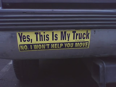 Yes, This is My Truck - No I Won't Help You Move