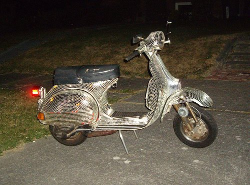 Disco Vespa Bike Art car Central