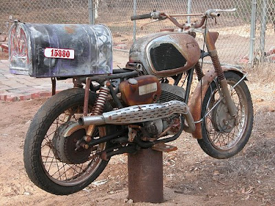 Rusty Motorcycle Mailbox