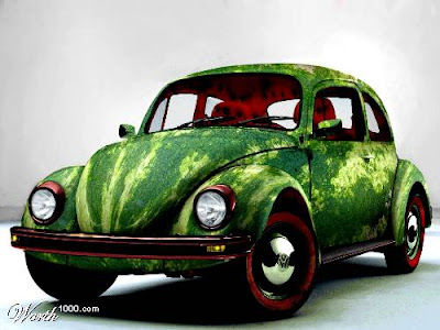 VW Watermelon Car