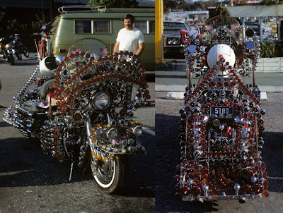 Harley Davidson Electra Glide covered in a million lights