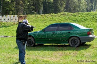 Russian Bullet Flower Power BMW Art Car