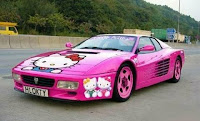 Hello Kitty Ferrari Car