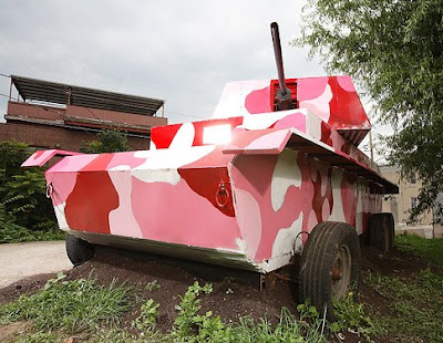 Burly Pink Pedal Powered Tank