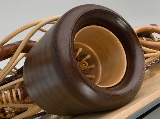 Gunner Michael Cooper wooden wheel closeup