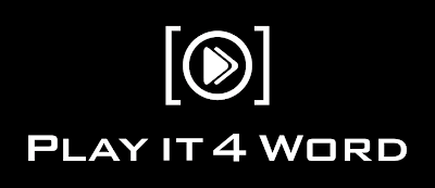 Play It 4 word Logo Design