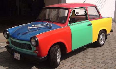 Trabant Harlequin Art Car Wannabe #2