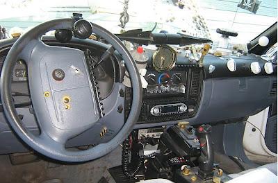 Apocolypticop Art Car Inside Dash