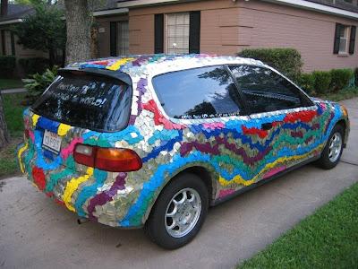 Twinkle Little Art Car Rear View