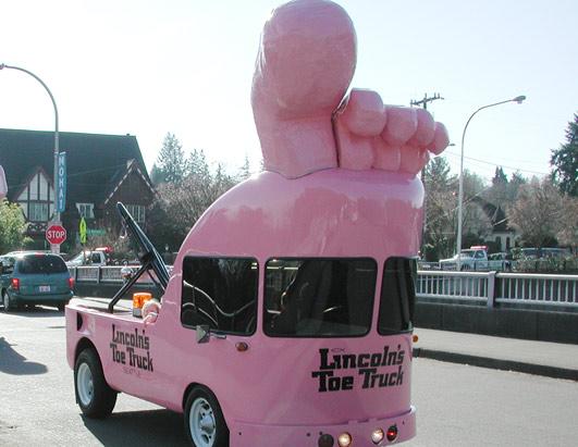 Pink Toe Art Truck