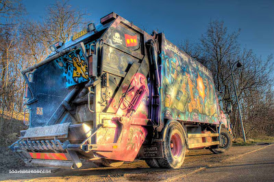 Graffiti Garbage Art Truck