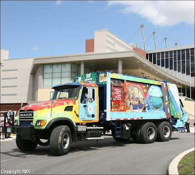 Public Works Garbage Art Truck