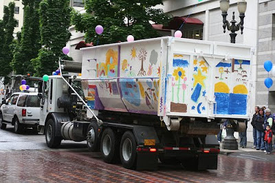 Kindergarden Garbage Art Truck