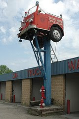 fire truck on pole