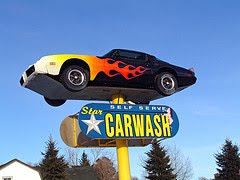 firebird on pole