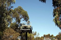 Old Jeep on pole