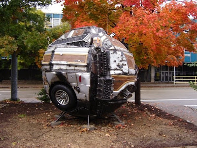reCARstruction Art Car Ball - 1983 Jeep Grand Wagoneer by Keny Marshall