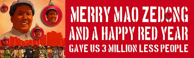 Have a Merry Mao Christmas and happy red year Bumper Sticker