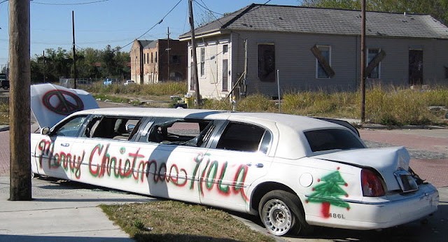 Spray Painted Christmas Limo