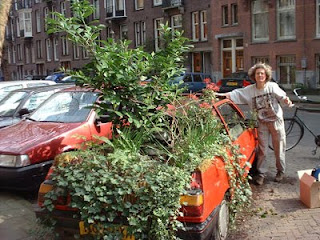 Garden Art Car in Amsterdam
