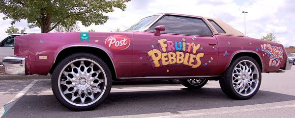 Fruity Pebbles Donk Art Car
