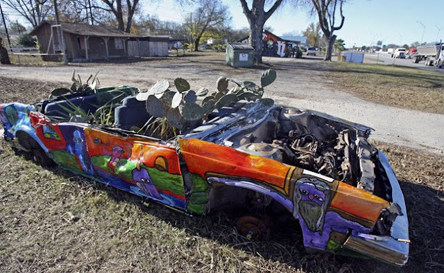 88 Oldsmobile Garden Art Car