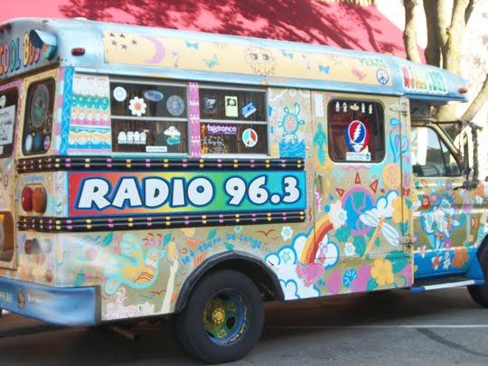 Corporate Hippie Oxymoron Art Bus - Radio 96.3 Cool Bus