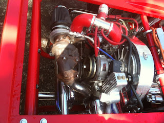1641 Turbo VW Radio Flyer Art Car Engine