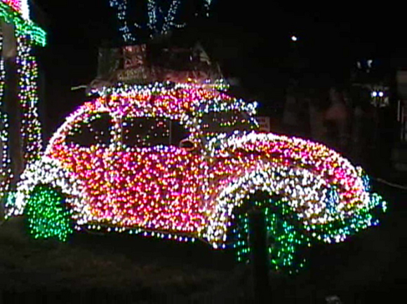 VW Christmas Car with Lights - Art Car