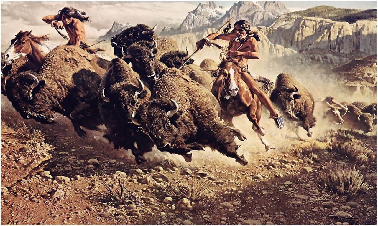 Native American Indians Hunting